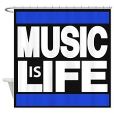 music life blue Shower Curtain