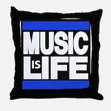 music life blue Throw Pillow