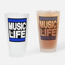 music life blue Drinking Glass