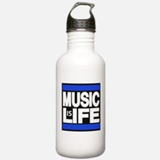 music life blue Water Bottle