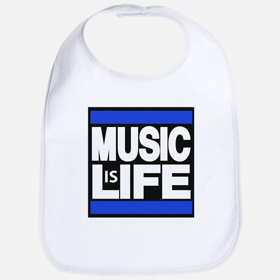 music life blue Bib