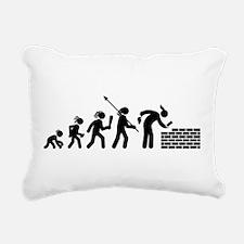Bricklayer Rectangular Canvas Pillow