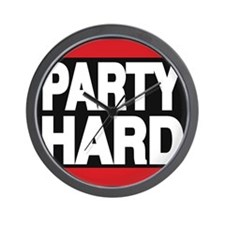 partyhard red Wall Clock