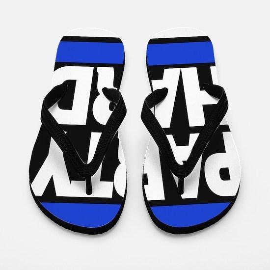 partyhard blue Flip Flops