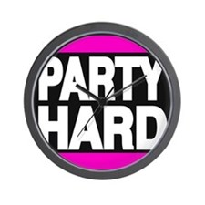 partyhard pink Wall Clock