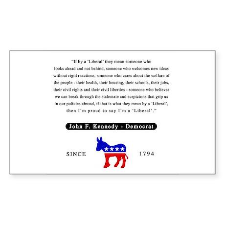 J.F.K. Rectangle Sticker