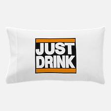 justdrink orange Pillow Case