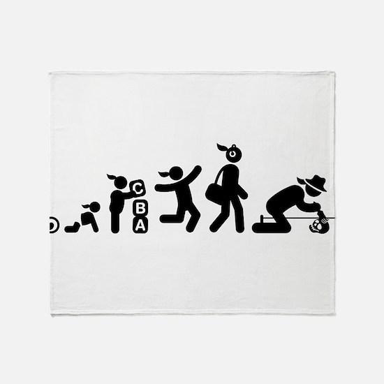 Archaeologist Throw Blanket