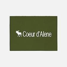 Coeur d'Alene Moose 5'x7'Area Rug