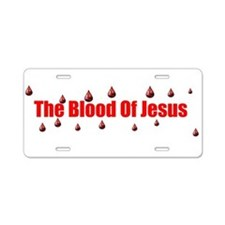 Funny Blood Aluminum License Plate