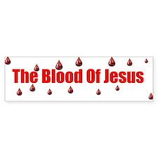 the blood of jesus Bumper Bumper Sticker