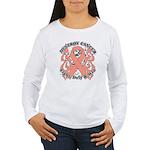 Destroy Uterine Cancer Women's Long Sleeve T-Shirt