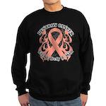 Destroy Uterine Cancer Sweatshirt (dark)