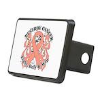 Destroy Uterine Cancer Rectangular Hitch Cover