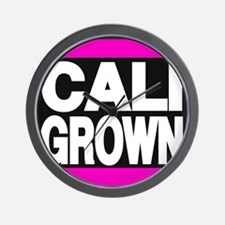 caligrown pink Wall Clock