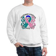 Destroy Thyroid Cancer Sweatshirt