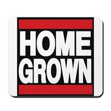 homegrown red Mousepad
