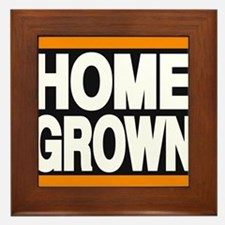 homegrown orange Framed Tile
