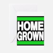 homegrown green Greeting Card
