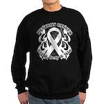 Destroy Mesothelioma Cancer Sweatshirt (dark)