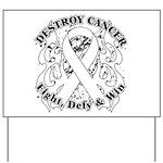 Destroy Mesothelioma Cancer Yard Sign