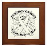 Destroy Mesothelioma Cancer Framed Tile