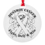 Destroy Mesothelioma Cancer Round Ornament