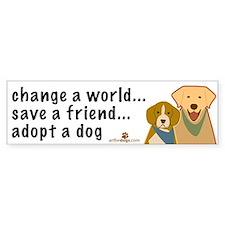 Adopt a Dog Bumper Bumper Sticker