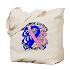 Destroy Male Breast Cancer Tote Bag