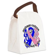 Destroy Male Breast Cancer Canvas Lunch Bag