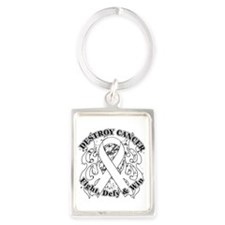 Destroy Lung Cancer Portrait Keychain