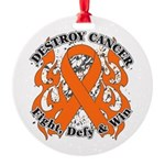 Destroy Leukemia Cancer Round Ornament