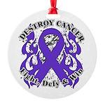 Destroy GIST Cancer Round Ornament