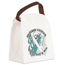 Destroy Cervical Cancer Canvas Lunch Bag