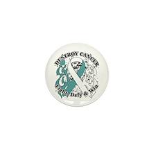 Destroy Cervical Cancer Mini Button (10 pack)