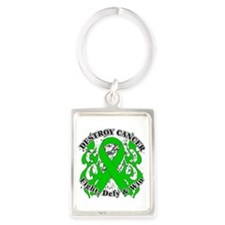 Destroy Bile Duct Cancer Portrait Keychain