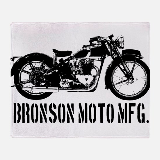 Bronson Moto Mfg. Throw Blanket