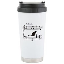Cat Toying with Note v.2 Thermos Mug
