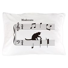 Cat Toying with Note v.2 Pillow Case