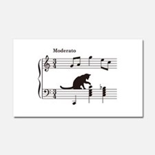 Cat Toying with Note v.2 Car Magnet 20 x 12