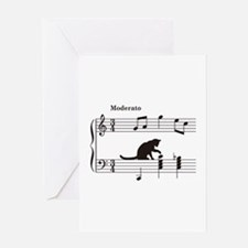 Cat Toying with Note v.2 Greeting Card