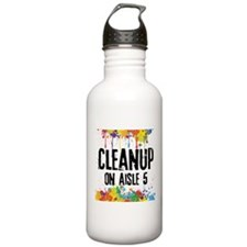 Cleanup on Aisle 5 Water Bottle