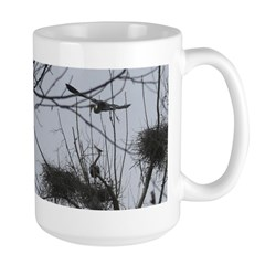 Hovering Over the Nest Large Mug