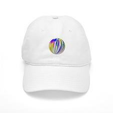 Fractal Striped Ball Baseball Baseball Cap