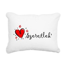 Cute Szeretlek Rectangular Canvas Pillow