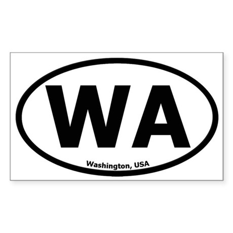 Washington Oval Sticker