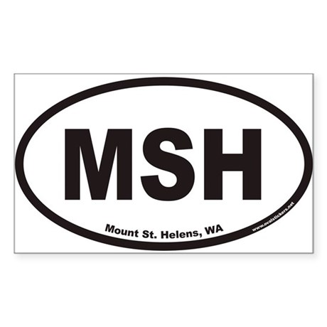 Mount St. Helens MSH Euro Oval Sticker