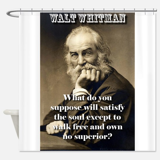 What Do You Suppose - Whitman Shower Curtain
