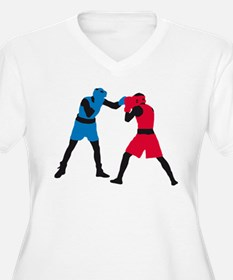 martial art box sports fighting Plus Size T-Shirt
