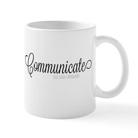 Communicate, use sign language Mug